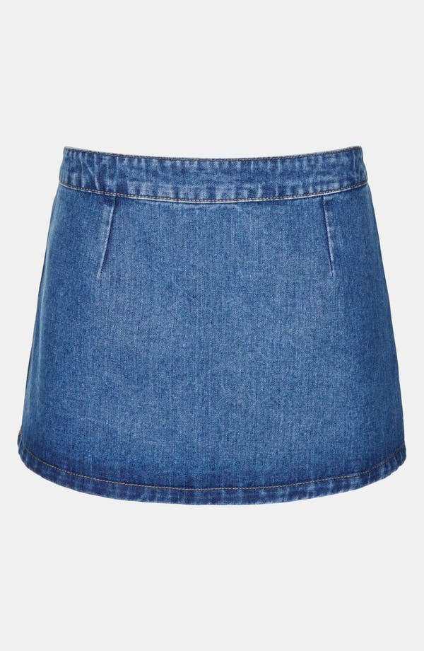 Alternate Image 1 Selected - Topshop Moto 'Pelmet' Denim Skirt (Petite)