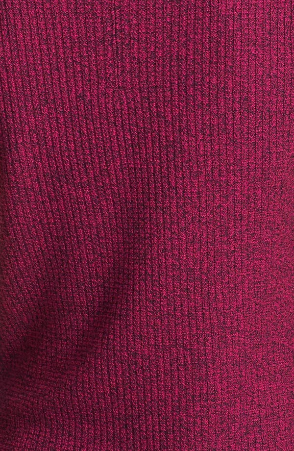 Alternate Image 3  - St. John Yellow Label Leather Trim Damier Knit Shell