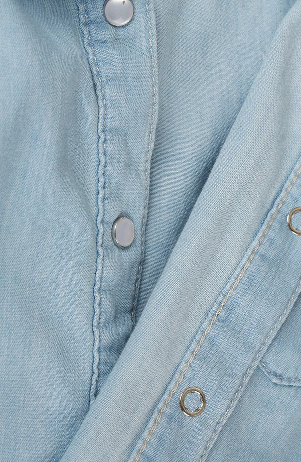 Alternate Image 3  - Topshop Moto 'Sophie' Crop Sleeveless Denim Shirt