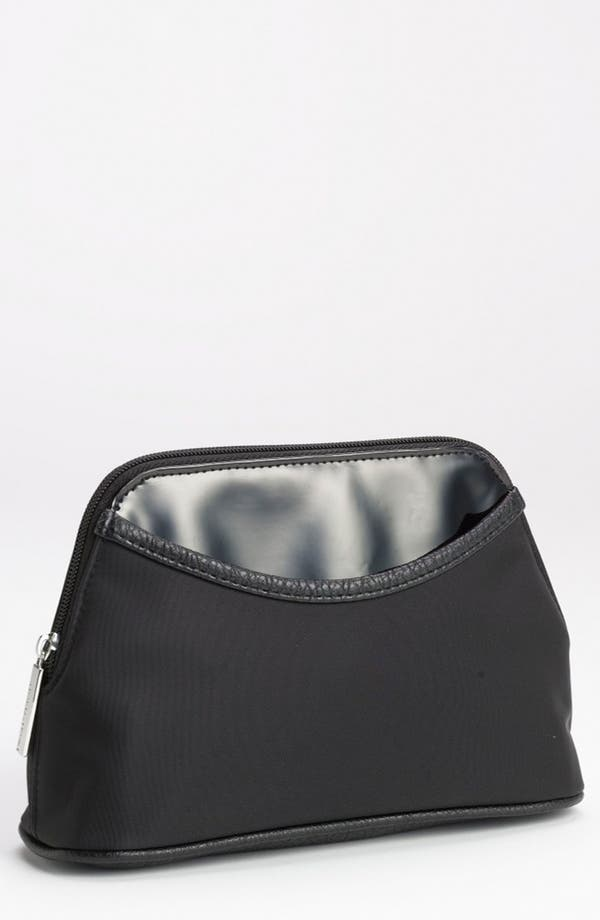 Alternate Image 1 Selected - Nordstrom Faux Leather Trim Cosmetics Bag (Medium)