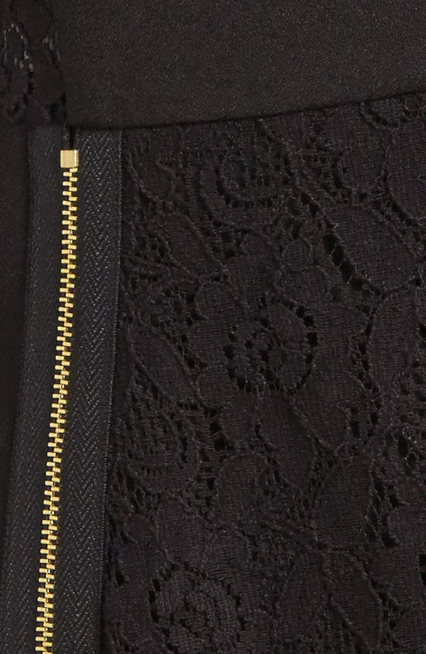 Alternate Image 3  - ASTR Lace & Zipper Mini Dress