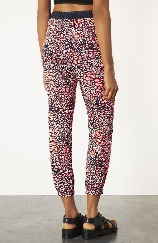 Alternate Image 2  - Topshop Leopard Print Track Pants