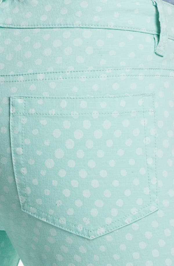 Alternate Image 3  - Two by Vince Camuto Polka Dot Straight Leg Jeans (Petite)