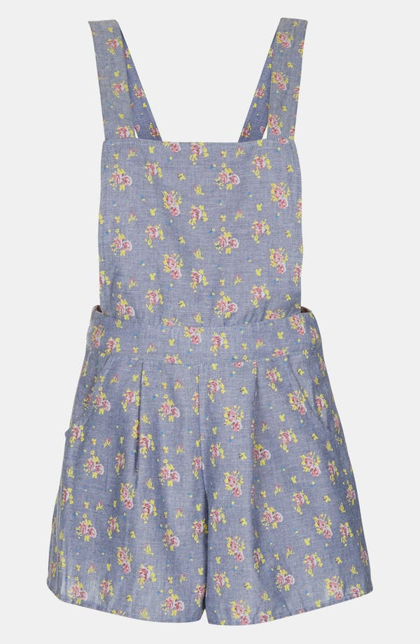 Alternate Image 3  - Topshop Floral Chambray Romper