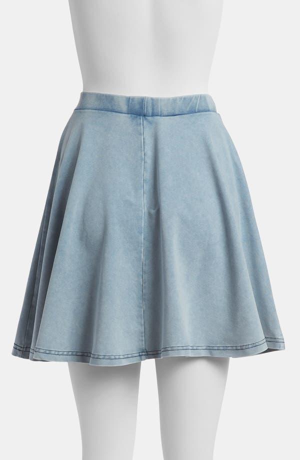 Alternate Image 2  - Topshop 'Andie' Acid Wash Jersey Skater Skirt