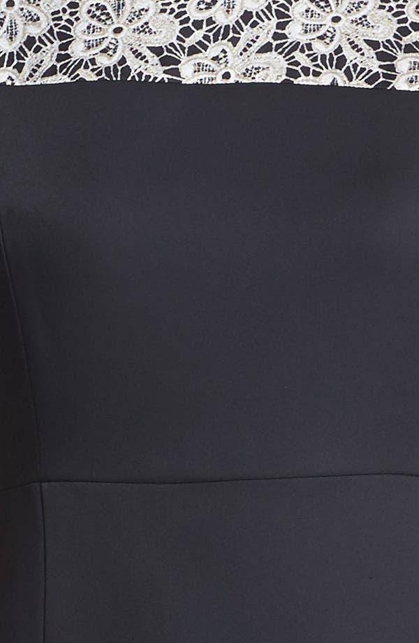 Alternate Image 3  - Vince Camuto Lace Print Crepe Dress