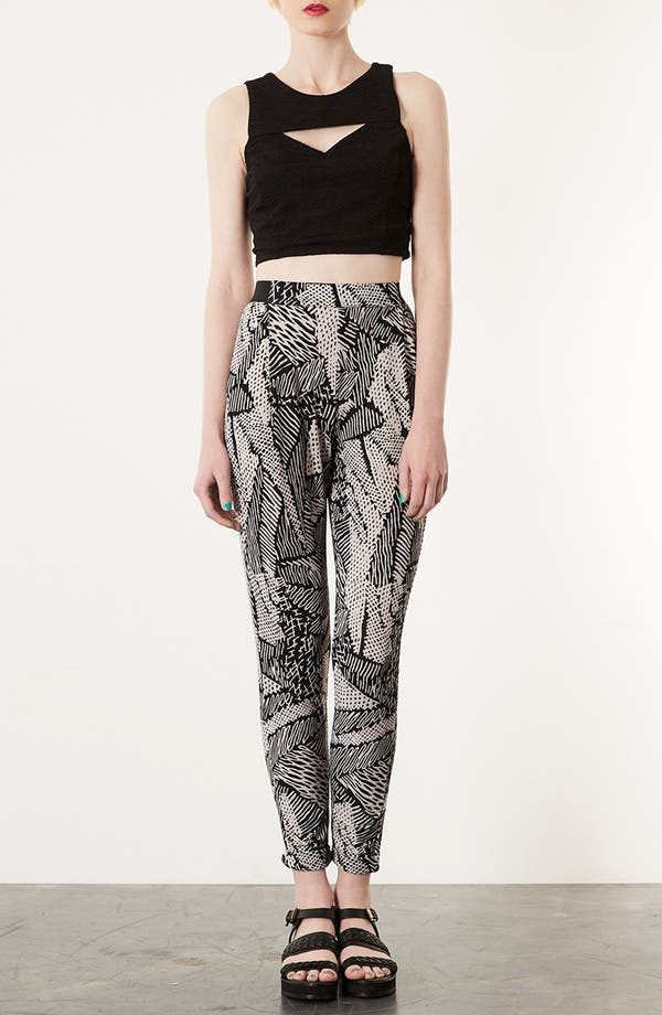 Alternate Image 4  - Topshop 'Scribble' Tapered Trousers