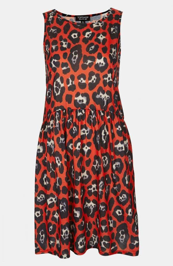 Alternate Image 3  - Topshop Leopard Print Skater Dress