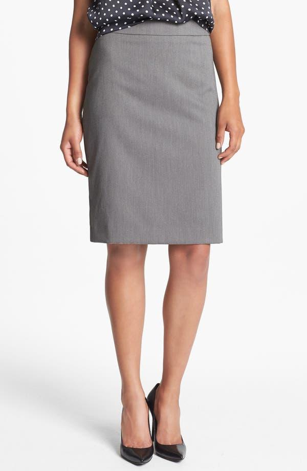 Alternate Image 1 Selected - Jones New York 'Lucy - Birdseye' Pencil Skirt