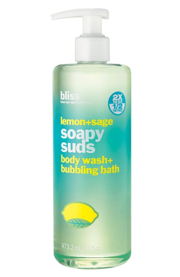 Alternate Image 1 Selected - bliss® 'Soapy Suds - Lemon + Sage' Body Wash & Bubbling Bath