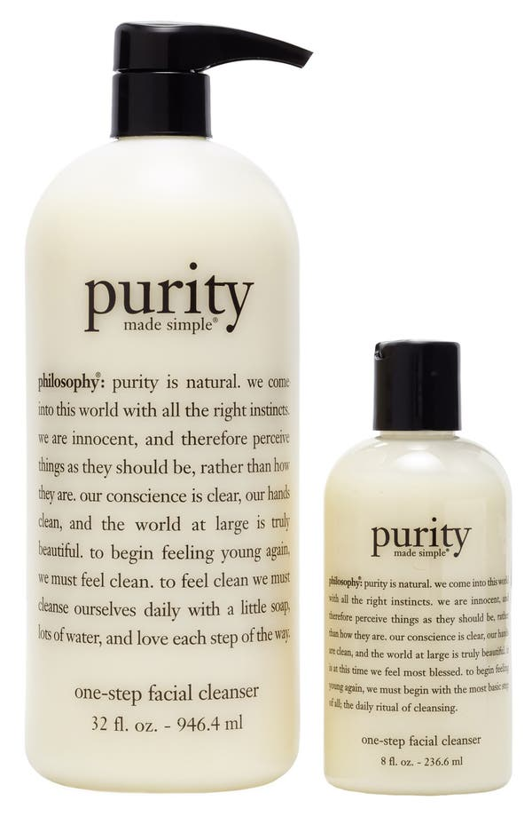 Alternate Image 1 Selected - philosophy 'purity made simple' one-step facial cleanser duo ($94 Value)