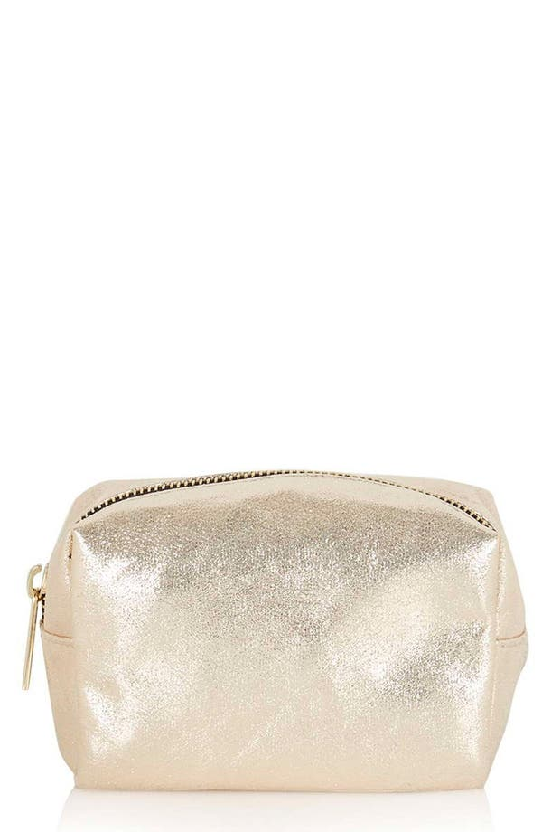 Main Image - Topshop Metallic Mini Makeup Bag