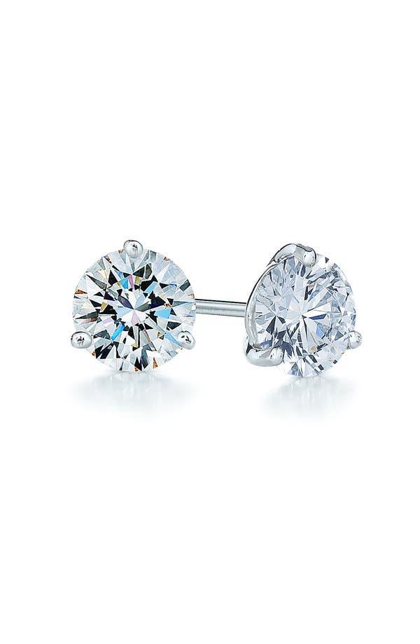 Alternate Image 1 Selected - Kwiat 0.75ct tw Diamond & Platinum Stud Earrings
