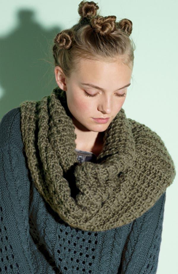 Alternate Image 2  - Frenchi® Waffle Knit Infinity Scarf