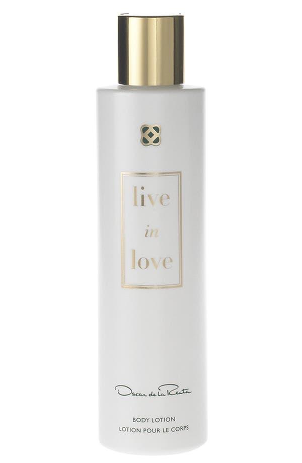 Alternate Image 1 Selected - Oscar de la Renta 'Live in Love' Body Lotion