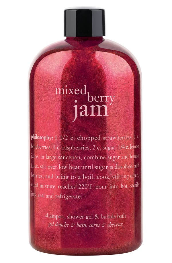 Main Image - philosophy 'mixed berry jam' shampoo, shower gel & bubble bath (Nordstrom Exclusive)