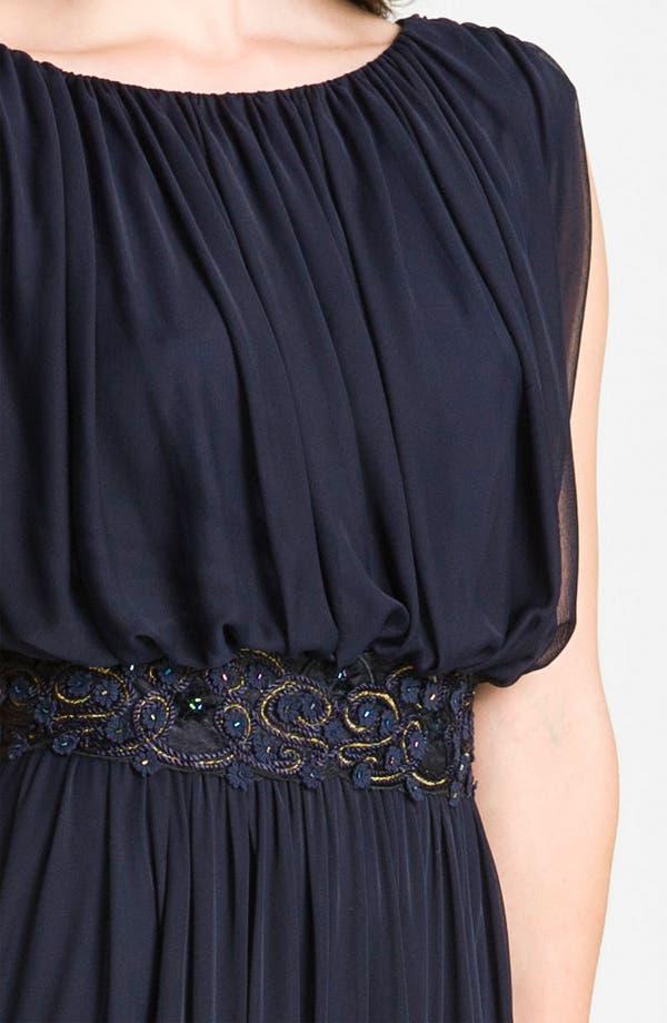 Alternate Image 3  - Alex Evenings Blouson Mesh Midi Gown