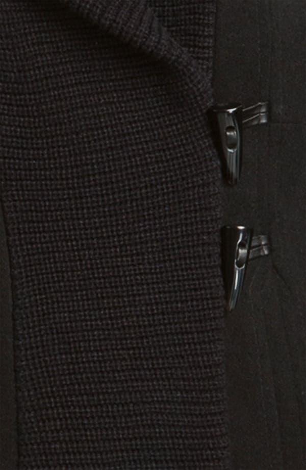 Alternate Image 3  - Vince Camuto Knit Collar Toggle Coat
