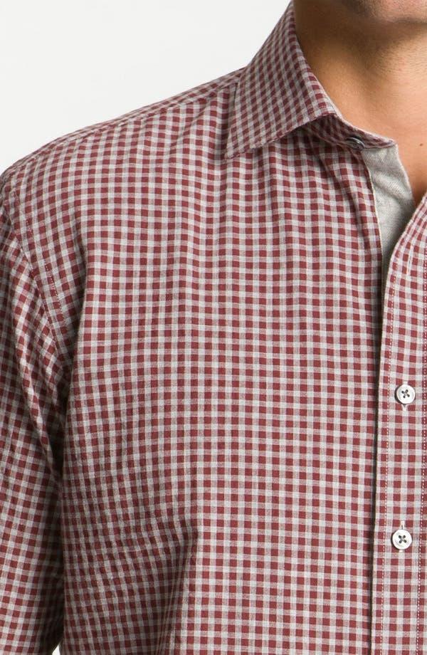 Alternate Image 3  - Hickey Freeman Gingham Woven Shirt