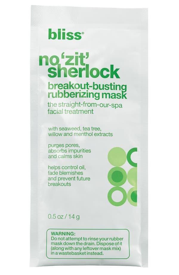 Alternate Image 1 Selected - bliss® 'No Zit Sherlock' Breakout-Busting Rubberizing Mask