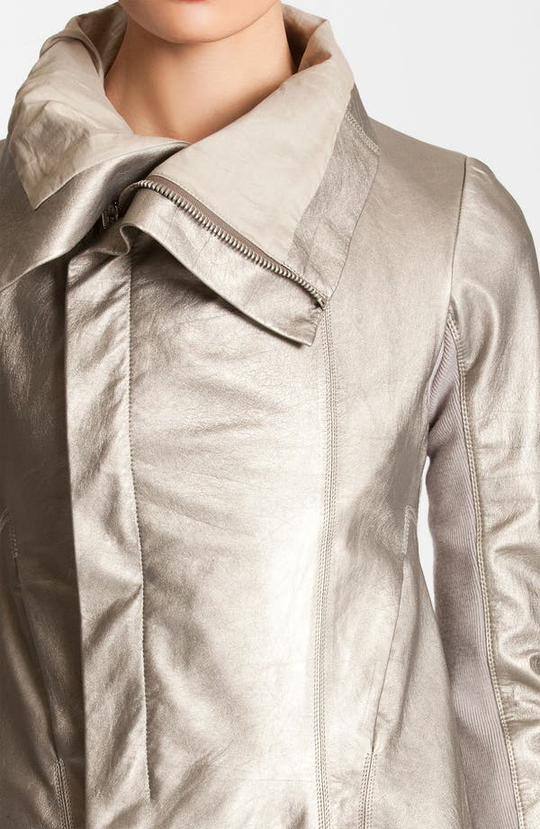 Alternate Image 4  - Rick Owens Metallic Leather Jacket