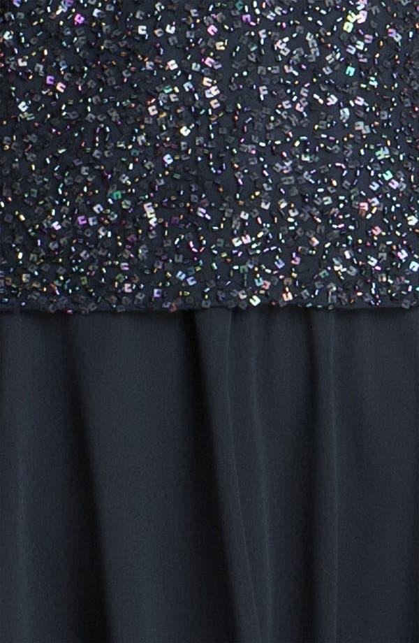 Alternate Image 3  - J Kara Sequin Flutter Sleeve Chiffon Gown
