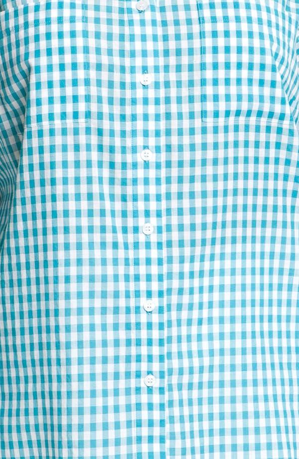 Alternate Image 3  - Sandra Ingrish Gingham Check Shirt (Plus)