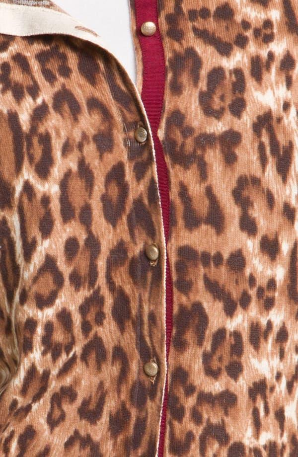 Alternate Image 3  - Lucky Brand Cheetah Print Cardigan (Plus)