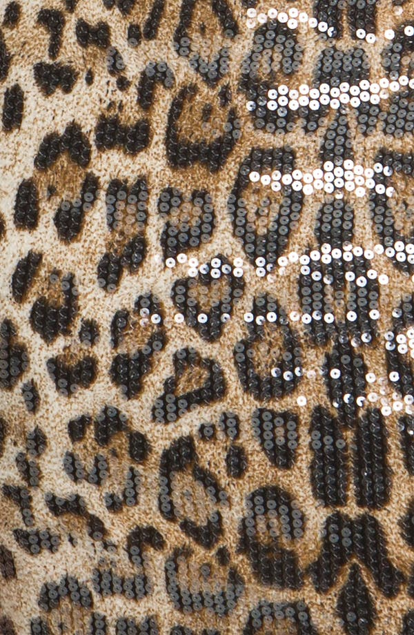 Alternate Image 3  - En Crème Animal Print Sequin Body-Con Dress (Juniors)