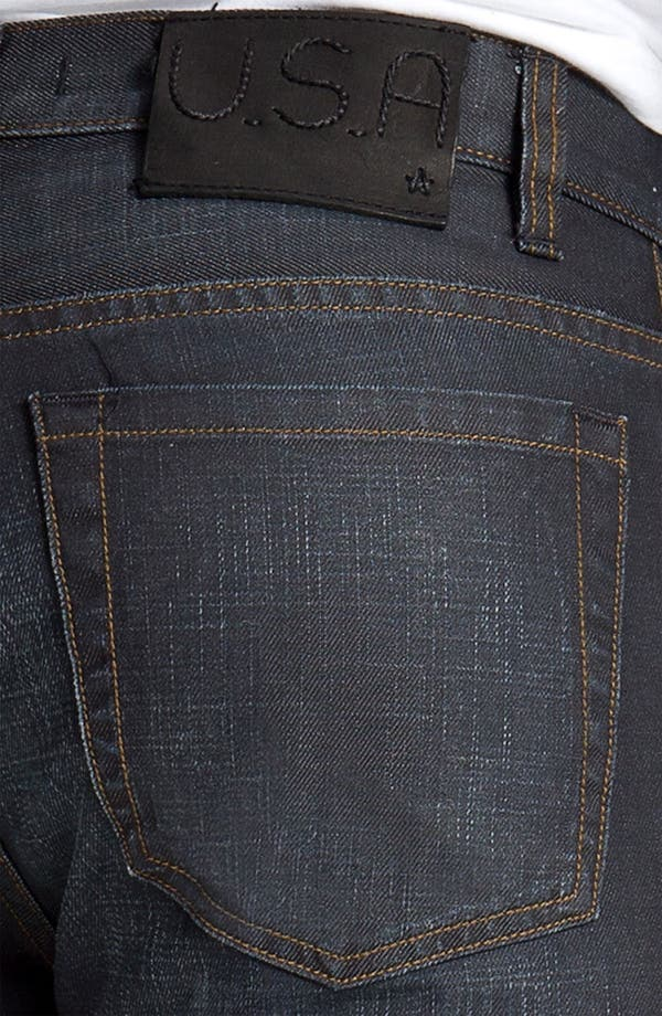 Alternate Image 4  - John Varvatos Star USA 'Bowery Brewester' Straight Leg Jeans (Oiled Blue)