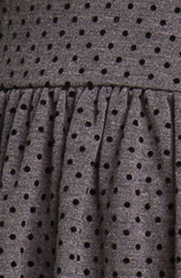 Alternate Image 3  - Frenchi® Velvet Polka Dot Dress (Juniors)