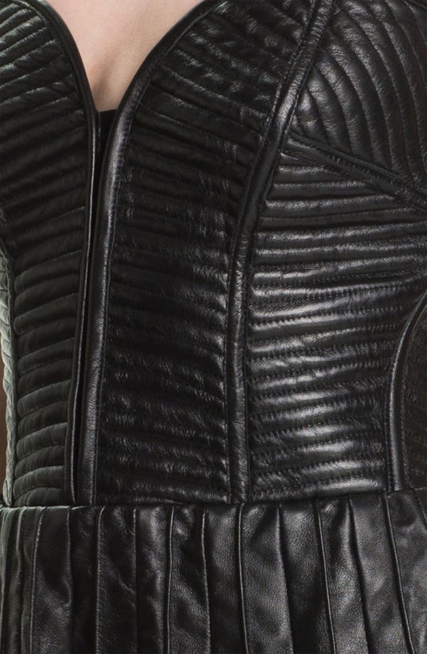 Alternate Image 3  - Parker Quilted Leather Dress