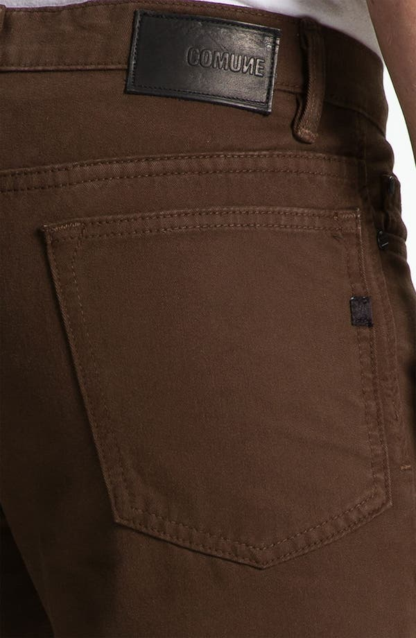 Alternate Image 3  - Comune 'Ricky' Slim Straight Leg Jeans (Espresso)
