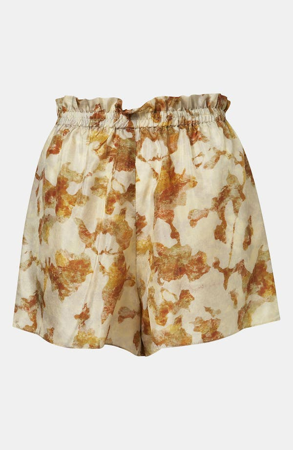 Alternate Image 2  - Topshop Desert Camo Silk Shorts