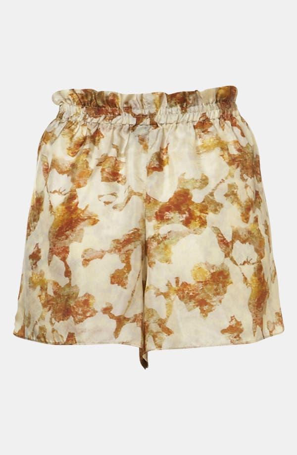 Alternate Image 1 Selected - Topshop Desert Camo Silk Shorts