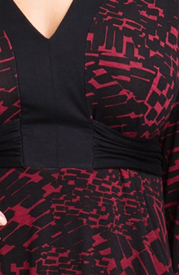 Alternate Image 3  - Three Dots 'Boheme' V Neck Knit Dress (Plus)