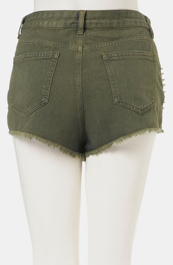 Alternate Image 2  - Topshop Moto Studded Cutoff Denim Shorts