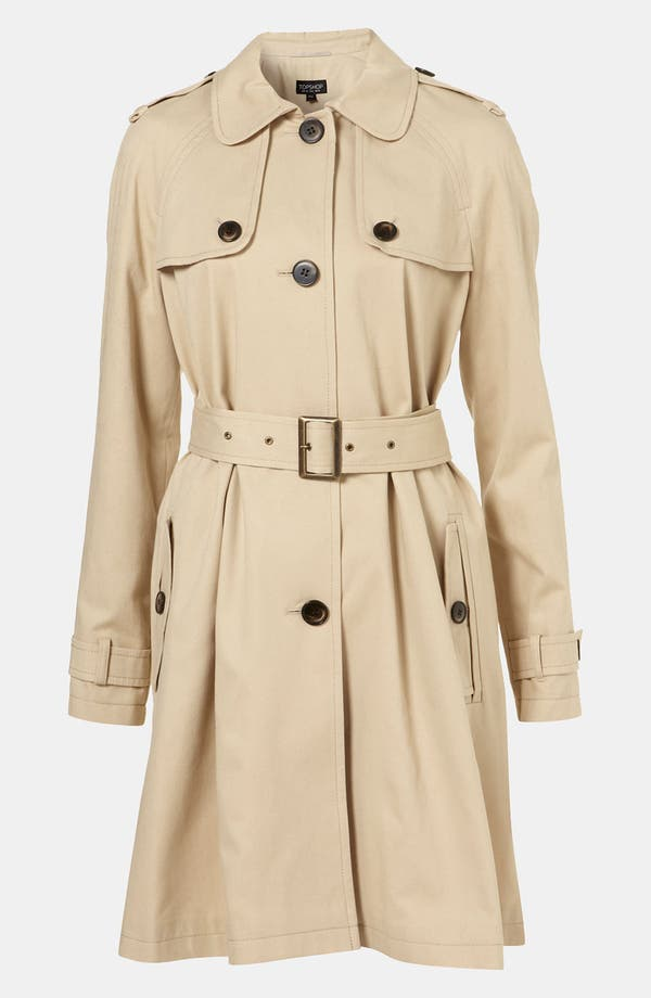 Alternate Image 1 Selected - Topshop A-Line Trench