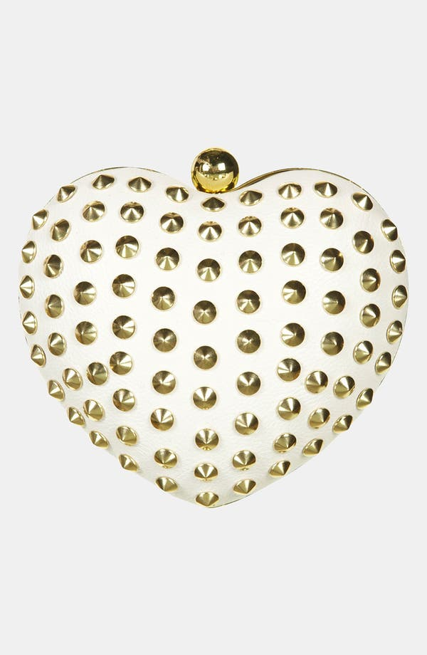 Alternate Image 2  - Topshop Stud Heart Box Clutch