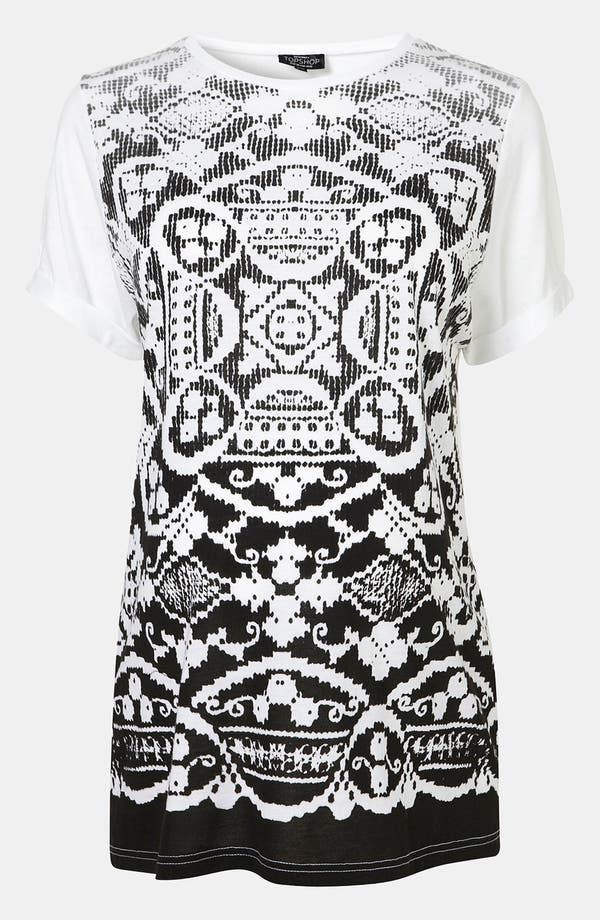 Alternate Image 1 Selected - Topshop Doily Print Maternity Tee