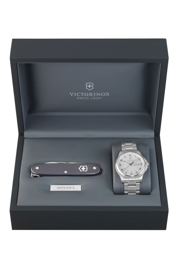 Alternate Image 1 Selected - Victorinox Swiss Army® 'Officer's' Bracelet Watch with Knife, 40mm