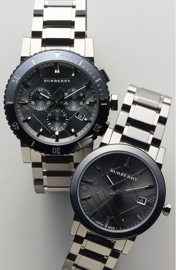 Alternate Image 4  - Burberry Check Stamped Bracelet Watch, 42mm