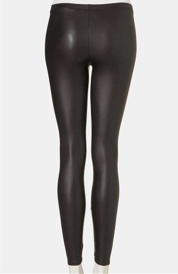 Alternate Image 2  - Topshop Faux Leather Leggings (Petite)