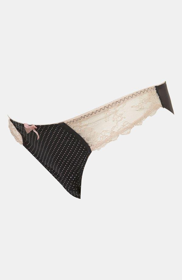 Alternate Image 2  - Topshop Lace Trim Polka Dot Maternity Bikini