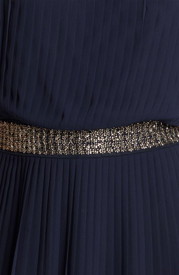 Alternate Image 3  - Adrianna Papell Beaded Waist Pleated Chiffon Dress