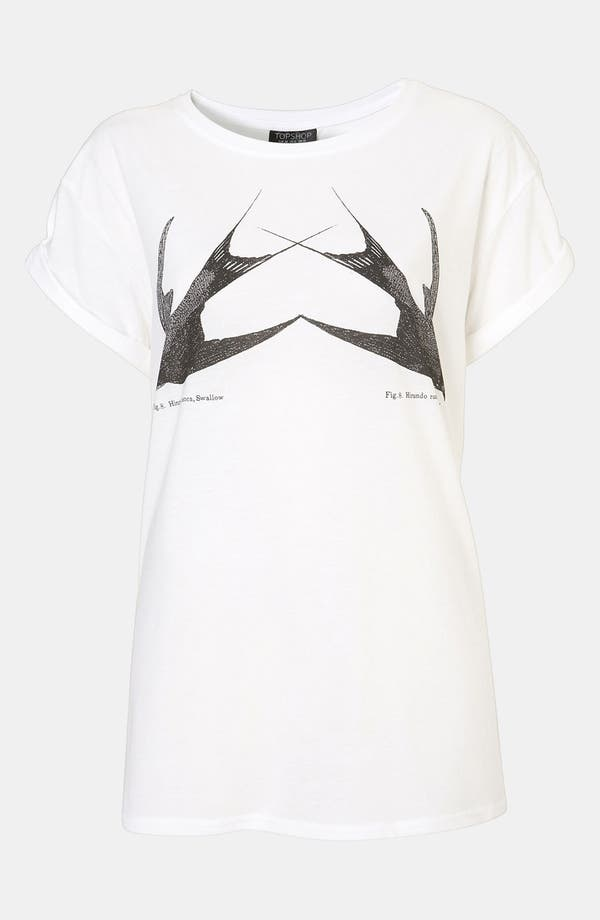 Alternate Image 1 Selected - Topshop 'Swallow' Graphic Tee