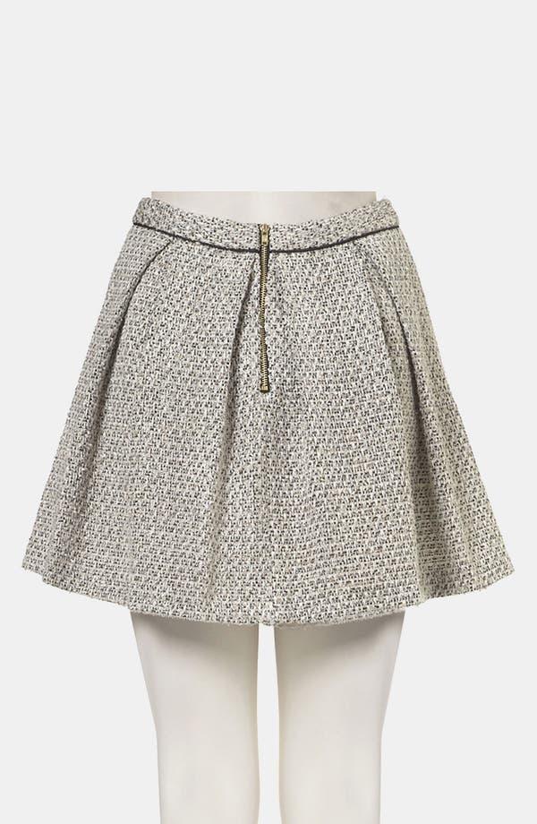 Alternate Image 2  - Topshop Pleated Bouclé Skirt