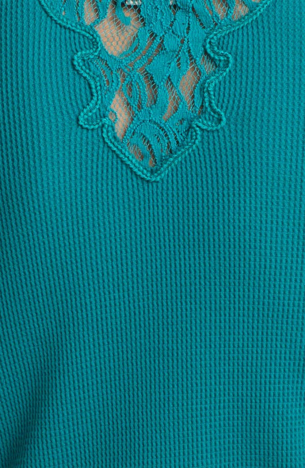Alternate Image 3  - Lucky Brand Lace Trim Thermal Top