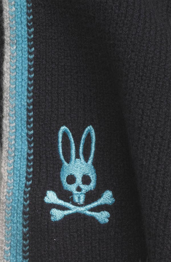 Alternate Image 2  - Psycho Bunny 'Side Stripes' Lambswool Scarf