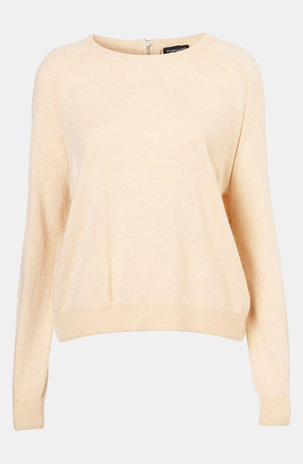 Alternate Image 1 Selected - Topshop Zip Back Sweater